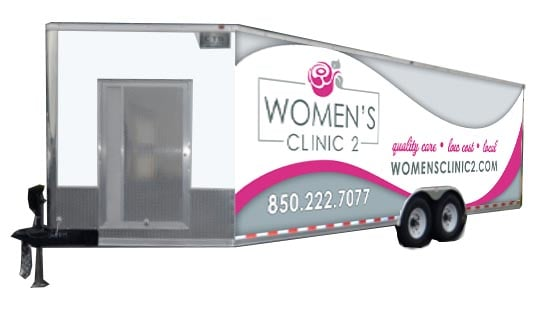 Mockup of Women's Clinic Tallahassee's New Mobile Ultrasound